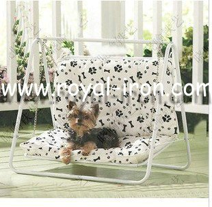 Free shipping,new style,pure brass,longevity,anti-rust,wrought iron pet bed,pet house,metal pet bed for dogs,cats,etc.(China (Mainland))