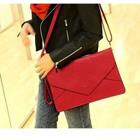 Drop/Free Shipping New 2014 Envelope handbag Stylish lady's totes /design fashion shoulder bag,Leather Handbags,wholesale/retail