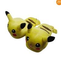 Free shipping EMS  Cartoon Slipper ,Pikachu slipper, Pokemon slippers