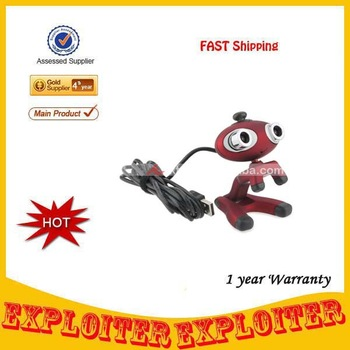 Cute Cartoon Style USB 2.0 2*CMOS Double 1.3MP Lens 3D Webcam w/ Microphone/3D Glasses,Free Shipping