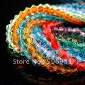 5301,4MM mix color Bicone Crystal Bead Crystal Pendant, glass loose bead,Hole through beads, 1440Pcs/Lot free shipping HA313