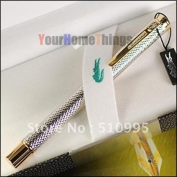 Crocodile 218 exeoutive silver raised barrel roller ball pen