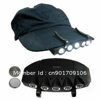 Camping Fishing Clip Hat Cap Led Light Lamp Headlamp 5 LEDS