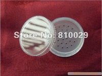 Free Shipping 100pcs/lot 20g clear sifter jar transparent cosmetic container loose powder case