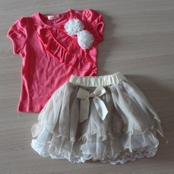 Hot sale ! dresses new fashion 2013 girls set shij009 Wholesale girls clothes 4set/lot(China (Mainland))