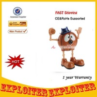 Wholsale Cute Cartoon Basketball Figure 300KP USB 2.0 PC Webcam (Brown + Blue),Free Shipping