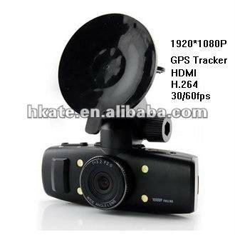 "In Stock Now Car GPS Black Box GS1000 1.5"" LTPS LCD+120 wide angel+built in GPS & G-sensor+HDMI output+H.264 DVR DV"