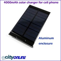 free shipping New Design 4000mAh Solar Charger, output 5V & 9V, can charger iphone 4&4s