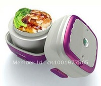 2012 hottest portable electronic lunch box steamer,make rice eggs noodles chicken wings vegetables