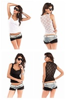 High quality! sexy t shirt,fashion t-shirt, white/black color tees, one size,DL25045