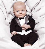 Baby boy kids children long sleeve Romper gentleman rompers 0910 B why