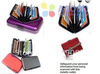 50 pcs Free shipping Aluminum Credit card wallet colors mixed card cases card holder ,bank card Wallet by DHL SL01
