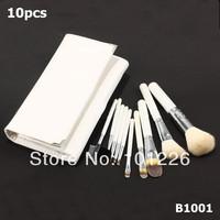Professional 10 pcs Makeup Brushes Set High Quality Goat Hair Makeup Tools Kit  Free Shipping