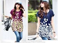 2014 New Stylish Top Quality Cheap Fashion Women Printed isce silk Dress free size S M L XL XXL XXXL dresses wholesaler dropship