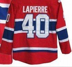 1pcs #40 Lapierre 40 ice hockey jerseys red color sportswear MIX Order size:48-56