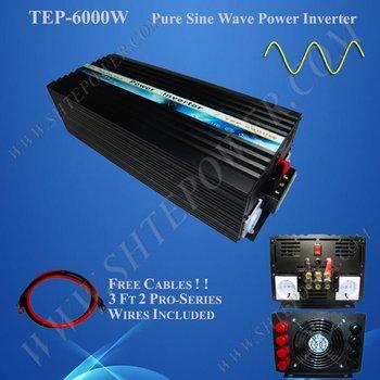 CE&RoHS Approved 6KW/ 6000watts Pure Sine Wave Power Inverter 48vdc to 100v/120v/220v/230v/240v