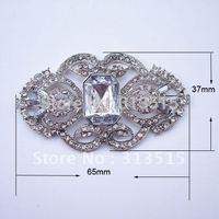 (M0438)  65mmX37mm metal rhinestone embellishment