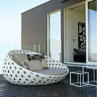 Top Sale Fashion PE rattan Garden Sofa,YSF-N032,OEM