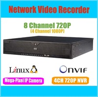 New Hot 8 Channel 720P Embedded linux OS H.264 compression NVR, network camera recorder KE-8-4HI