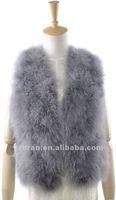 Free shipping VIVI style ladies Turkey feather fur vest YR-375 ~wholesale~retail~OEM~Customized