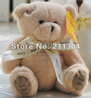 "One piece retail Supercute Plush Toy 6 inches ""I Love You"" Tatty Teddy Bear Free Shipping kids gifts"