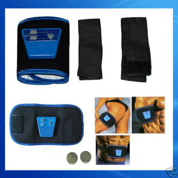 YM 1set with retail packing AB Gymnic Electronic Muscle Arm leg Waist Massage Belt, Free Shipping , Dropshipping