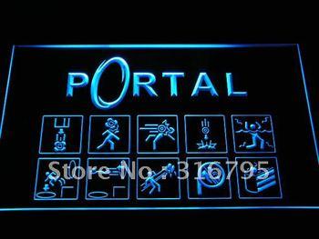 e068-b Portal Game Logo Neon Light Sign