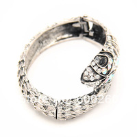 Free shipping crystal snake cuff bracelet Fashion jewelry bracelet#7010