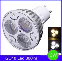 3W GU10 300lm led spotlight high power led spot bulb indoor lamp 100-240V AC MR16 /E27 available energy saving RoHS CE