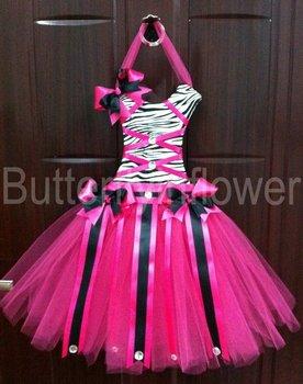 zebra leopard lace tutu hair bow holders 24pcs/lot