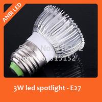 Free shipping E27 LED Spotlight/LED bulb 3W 270-300lm 200-240V  Warm White/white 10 pcs/lot