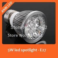 Free shipping E27 LED Spotlight/LED bulb 5W 450-500lm 200-240V  Warm White/white 10 pcs/lot