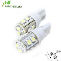 10pcs 360-Degree Shine 10-SMD T10 Wedge Car White Light LED Bulbs LED License Plate Lights