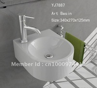 7887 Bathroom Ceramic Mini and Save Spaces Wall hung Wash hand Sink basin lavatory lavabo