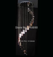 JEZZ LIGHTING/FREE SHIPPING+LED/110-240V/ 25  LED LIGHTS/TOP K9 CRYSTAL/THICK BASE/SPILLIKING DESIGN/CHANDELIER/PEDANT LIGHT/HOT