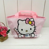 Free Shipping! Hello Kitty Design-Kids Cartoon Handbag/Children's Gift/Women's Comestic Bag/Multipurpose Bag, 6 pcs/lot