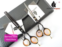 "5.5"" Black Color Classical Barber Scissors kits,Hairdressing Scissors,Hair Cutting Shears, Beauty Hair Shears Sets, 440C Quality"
