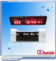 Free shipping indoor red led countdown clock show day hour minute second
