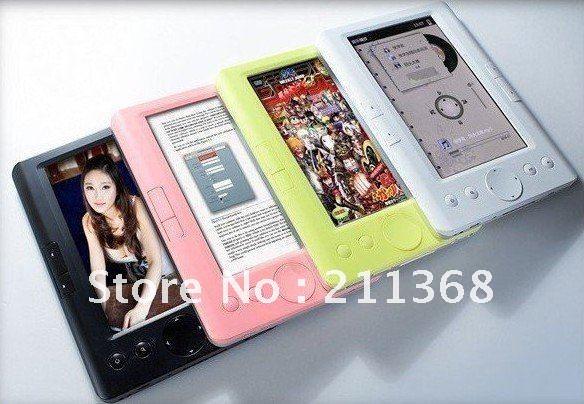 Wholesale 1pcs/lot 7inch e-paper ebook reader Menu language Audio player,Radio player,Bookmark function,Calendar function(China (Mainland))
