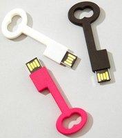 wholesale lovely PVC gift USB key shape USB flash memory usb pendrive USB flash drive free shipping