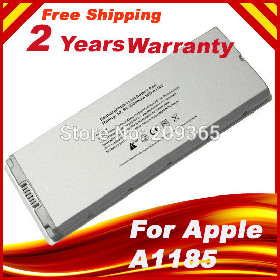 [Special price] NEW 6 CELL Replacement Laptop battery for Apple Macbook A1181 A1185 MA561 white(China (Mainland))