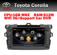 8 inch car DVD for Toyota Corolla with 3G and GPS/Bluetooth/Free Shipping