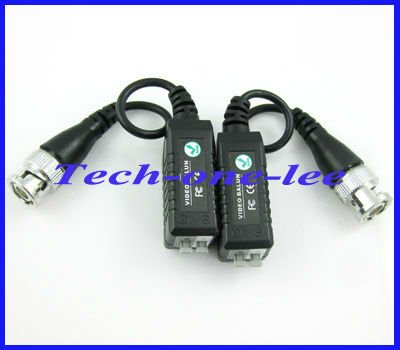 Wholesale Single channel passive video balun,Camera CCTV BNC DVR UTP Network CAT5 CCTV UTP Video Balun(China (Mainland))