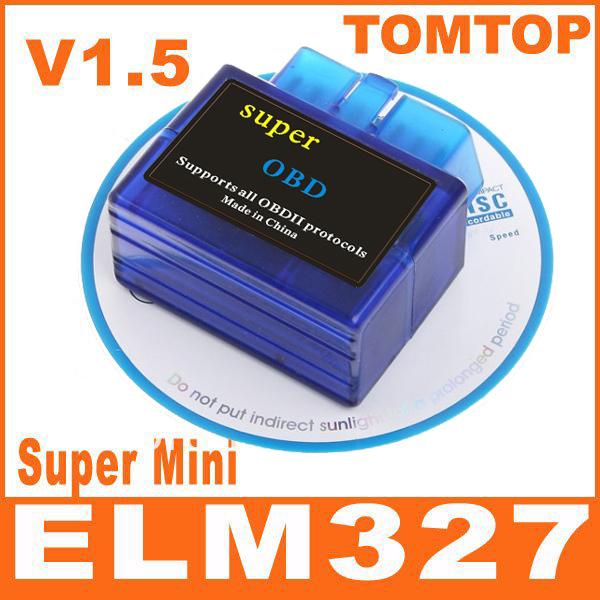 OBD OBD2 OBD-II Super Mini ELM 327 ELM327 V2.1 Bluetooth Car Auto Diagnostic Scanner Tool
