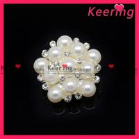 New arrival pearl mix rhinestone button for wedding accessory WBK-1108