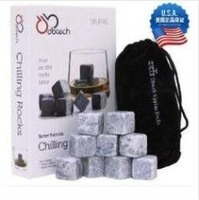 9pcs/set Whisky Stones,delicate box+velvet bag whiskey rock stone Free shipping+Wholesale