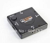 Free Shipping 2pcs/lot HDMI Switch Splitter HDMI 3 input 1 output HDTV 1080p Audio HD Video Switch Box
