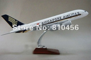 Free Shipping by ems!!Singapore airlines ,air plane model A380,aviation model, 47cm,Resin airplane models,