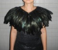 Free shipping double-layer Ladies&#39; black feather cape #780