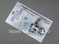 Mini Pocket Pocket Pen Fishing Rod + Mini Reel + Line Aluminium Set
